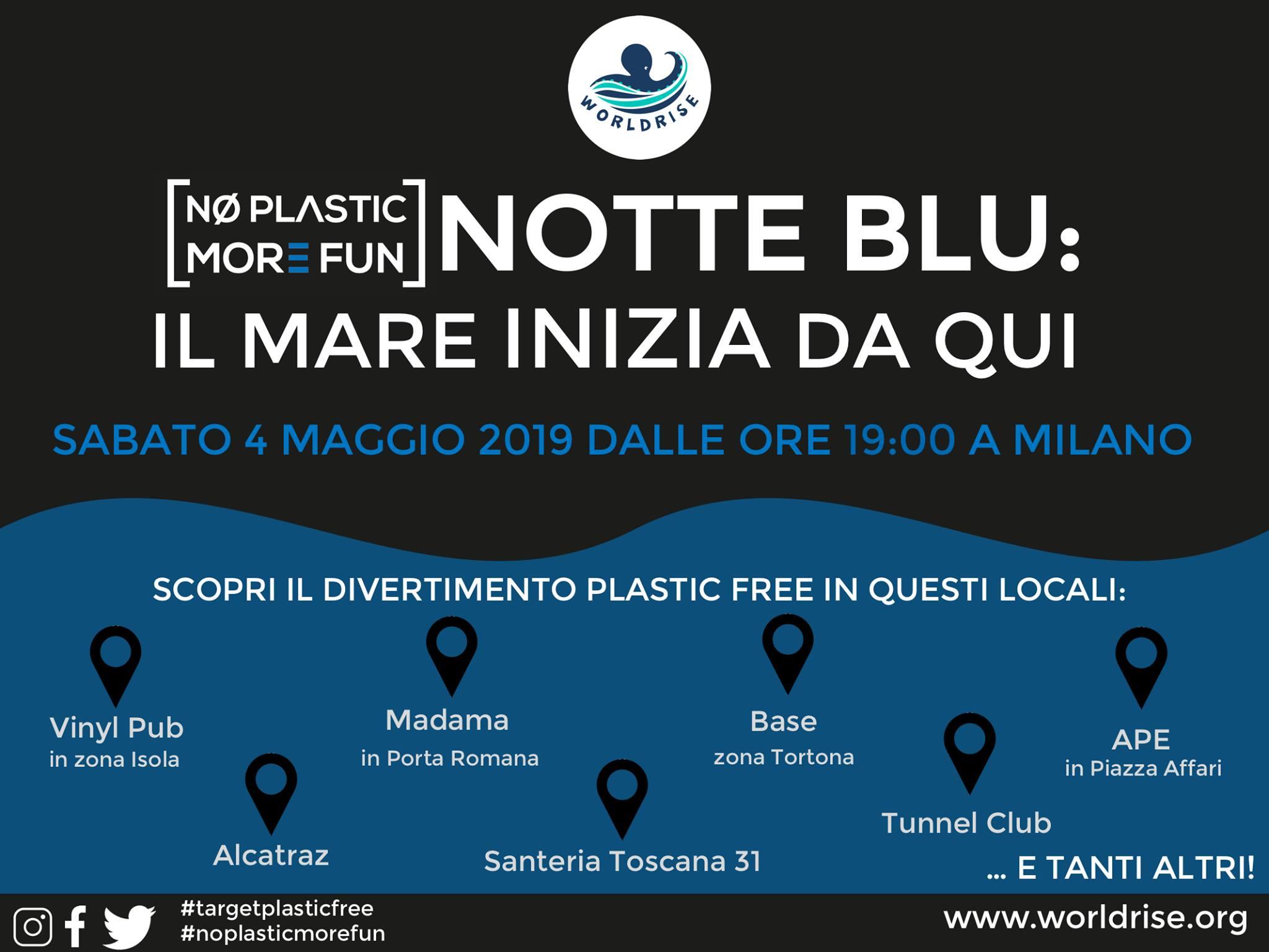 4 maggio: la Notte Blu plastic-free di Milano
